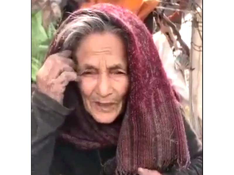 in her video message naseem bibi says her husband was her only support and now being forced to live on the streets screengrab