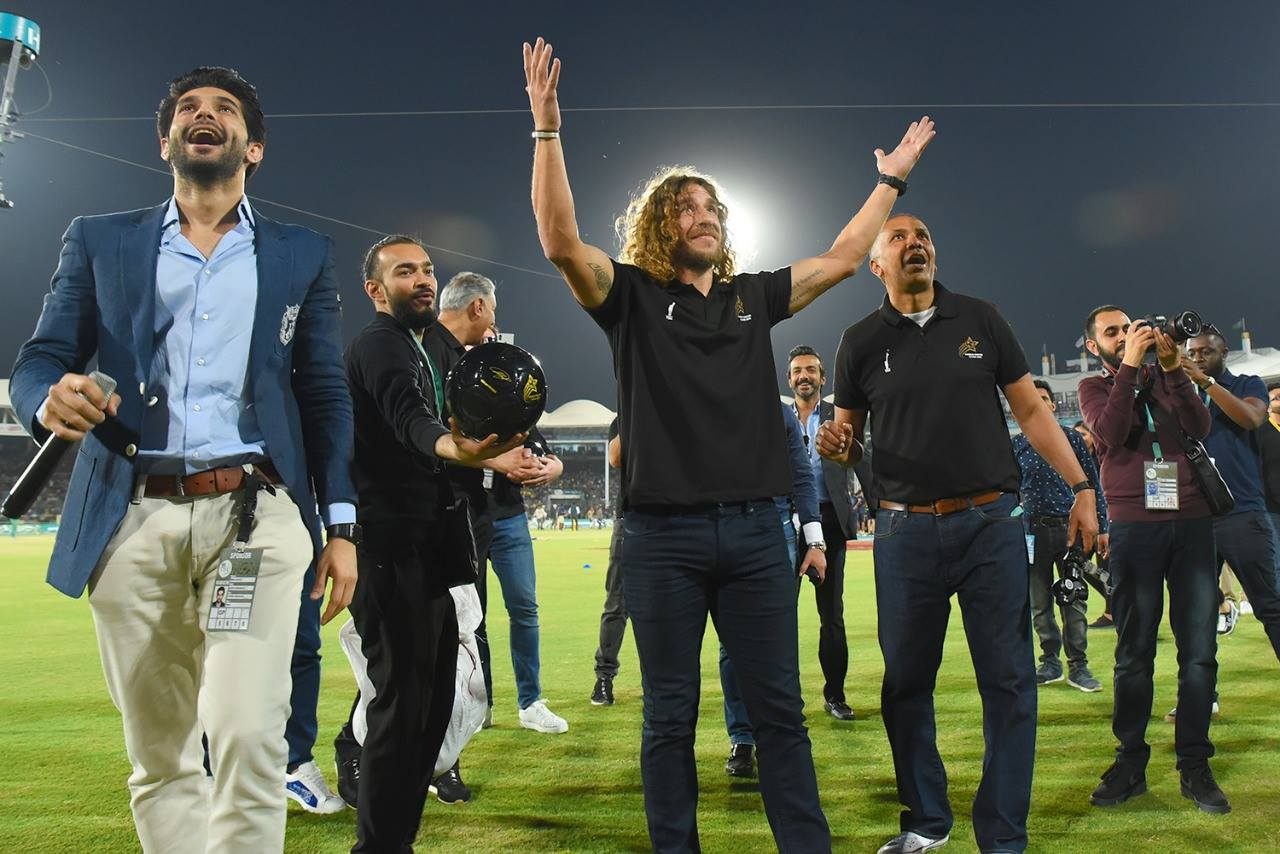 unfulfilled wish for puyol the trip to pakistan was a happy one but he didn t get the time to see any youngsters play football photo courtesy psl