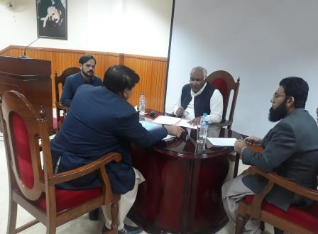 nab dg muhammad abid javed hears people complaints during open court in quetta photo express