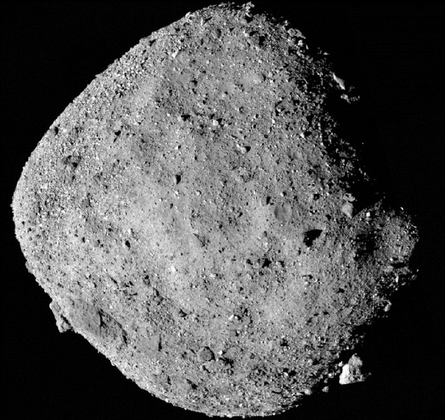 the asteroid bennu photographed in december 2018 by the nasa probe osiris rex which aims to collect a sample next year photo afp