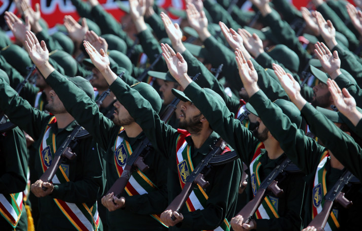 Iranian border security guards who were abducted last year released by Pakistan security forces. PHOTO: EPA/FILE