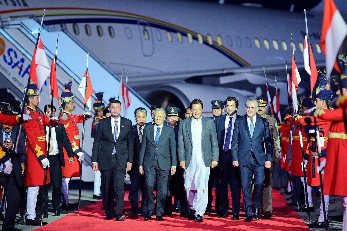 malaysian pm dr mahatir bin mohamad arrives in islamabad photo pti