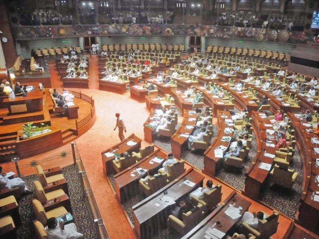 sindh assembly meets for one minute