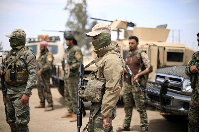the sdf has been battling to capture baghouz at the iraqi border for weeks photo reuters