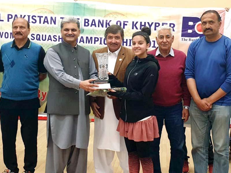 amnna fayyaz wins bank of khyber squash trophy