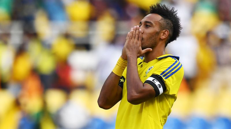 gabon 039 s arsenal striker aubameyang had a largely quiet afternoon and they were unable to get the second goal they needed to reach the finals photo reuters