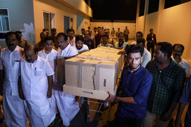 the body of ansi alibava who was killed during the new zealand mosque attacks is carried upon arrival at cochin international airport in kerala india photo afp