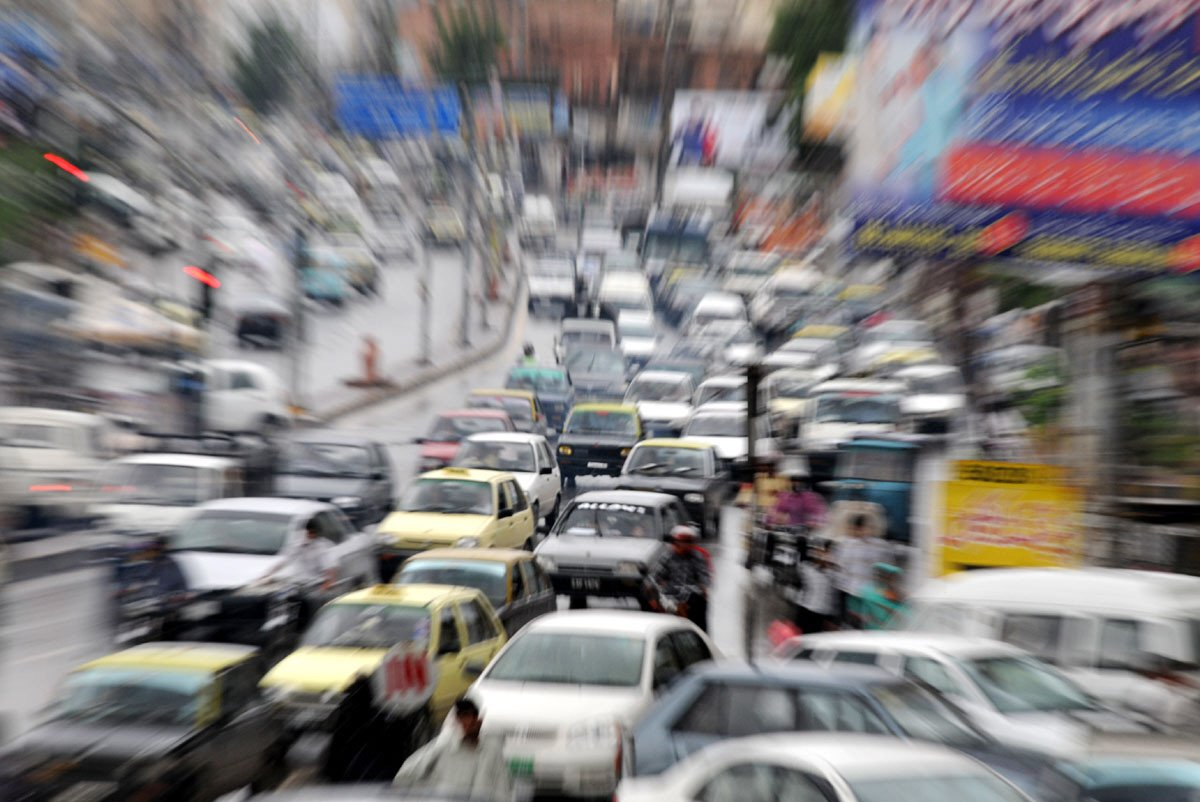 there is not a single parking plaza as well as a park lot on the linked roads with markets photo agha mehroz file