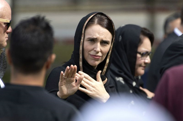 new zealand 039 s prime minister jacinda ardern gestures as she departs following a gathering for congregational friday prayers last week she has called for an official judicial inquiry into the mosque massacres photo afp