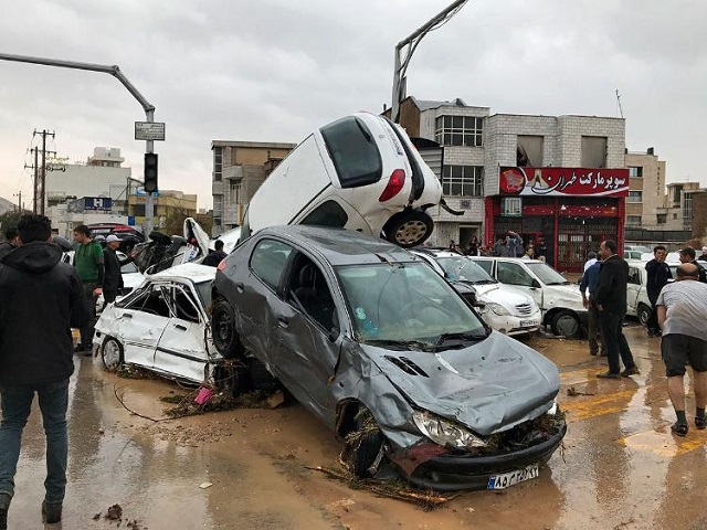 authorities say 68 persons injured in floods that have swept across most iranian provinces photo courtesy gulf news