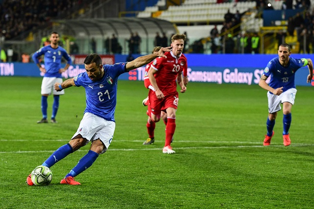 quagliarella becomes oldest italy scorer in 6 0 liechtenstein rout