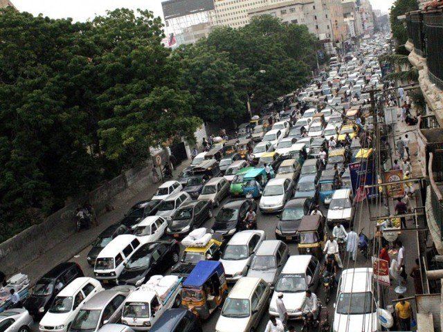 haphazard parking encroachments cause massive traffic jams in karachi