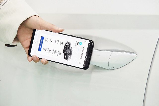 with an aim to replace the traditional physical key the digital key will be able to downloaded through an app photo hyundai