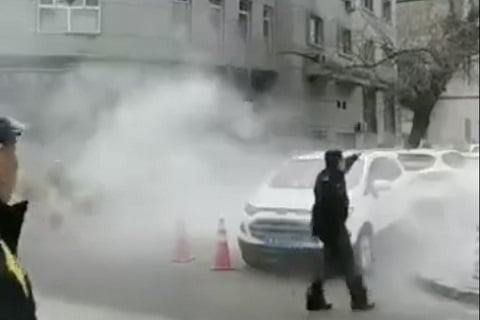 police in shenyang said a person walked into a police station and detonated an improvised explosive device photo weibo