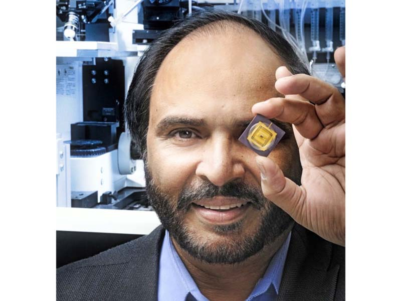 dr naweed syed with his pioneering two way cyborg chip photo express