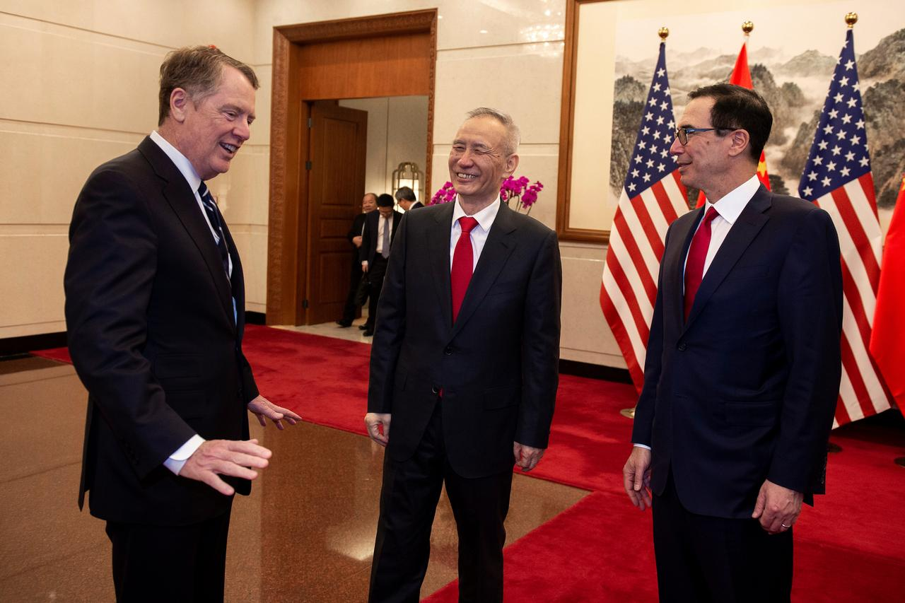 mnuchin lighthizer hold face to face meetings in chinese capital photo reuters