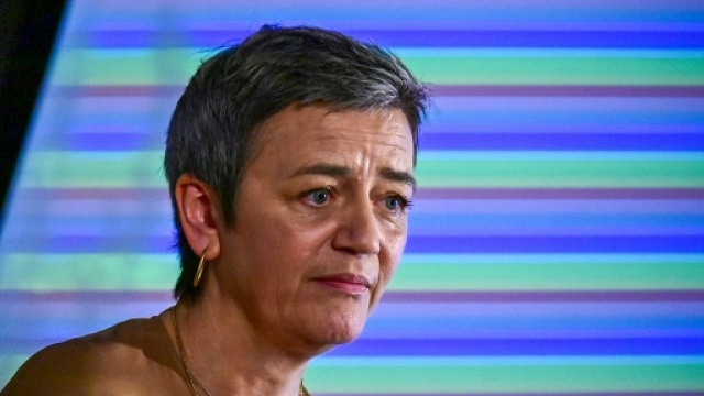 eu commissioner for competition margrethe vestager compared splitting up tech giants to chopping off the head of the mythological hydra photo quot afp