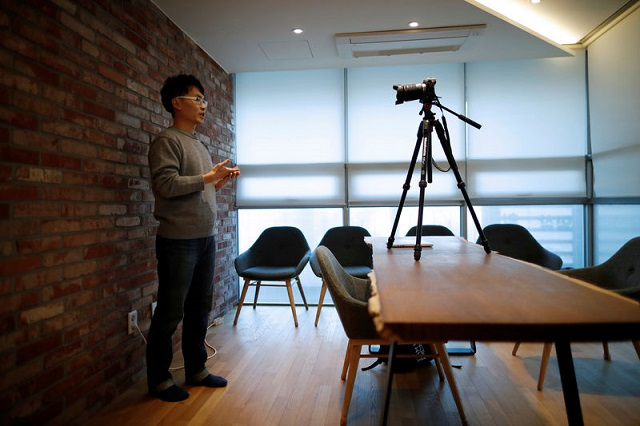 yoon chang hyun works on his youtube clip in seongnam south korea february 12 2019 photo reuters