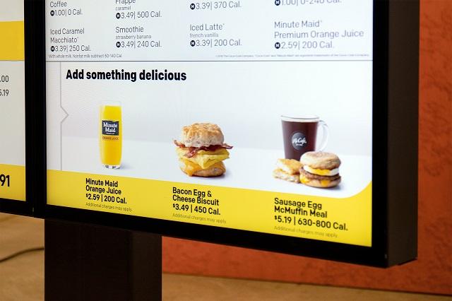 mcdonald s new digital menu boards photo mcdonald 039 s