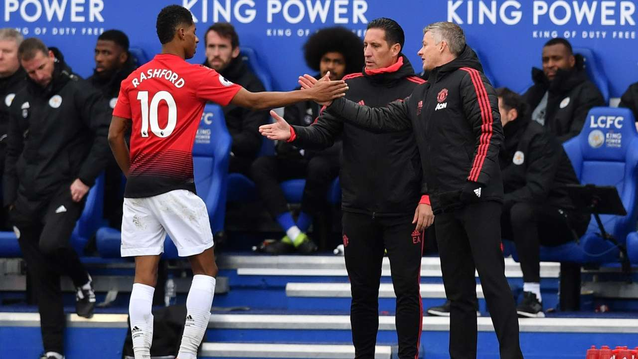 nothing wrong solskjaer was happy to launch an impassioned defence of his team 039 s style of football saying every team plays in accordance with their opposition and so do united photo afp