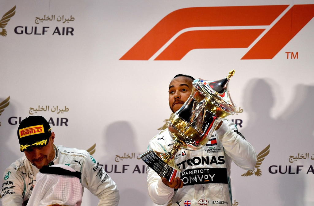 lucky victory hamilton triumphed after ferrari 039 s impressive monegasque new boy was deprived of a maiden victory by power failure photo afp