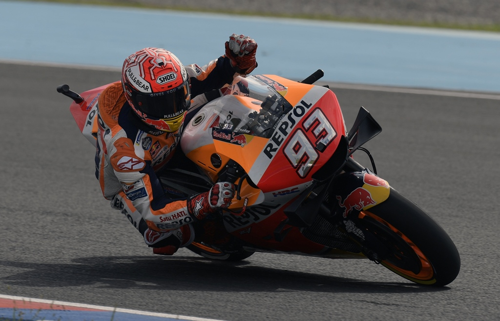 in top form marquez now leads the 2019 championship after two rounds of the 19 race series photo afp