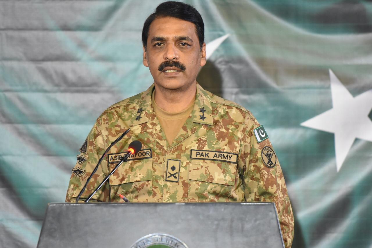DG ISPR Major General Asif Ghafoor. PHOTO: ISPR