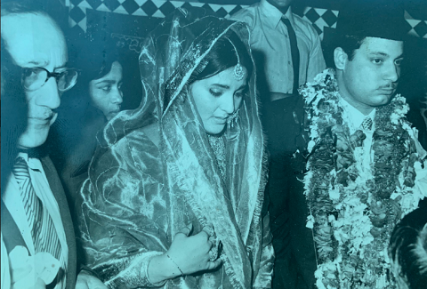 wedding picture of former prime minister nawaz sharif and late begum kulsoom nawaz photo twitter maryamnsharif
