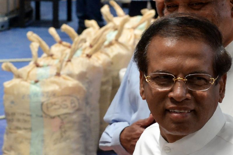 earlier this week president maithripala sirisena witnessed the destruction of nearly 800 kilos 1 280 pounds of cocaine photo afp