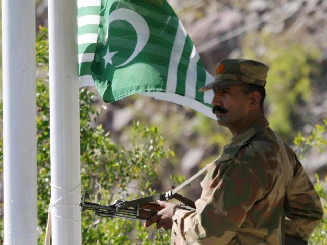 a pakistani soldier stand alert along the line of control photo ispr file