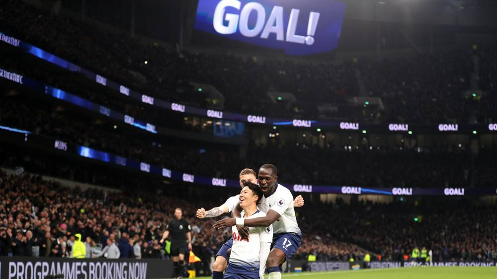 second half goals from son heung min and christian eriksen ensured spurs snapped a five game winless run in the premier league and moved pochettino 039 s side back up to third at the expense of north london rivals arsenal photo afp