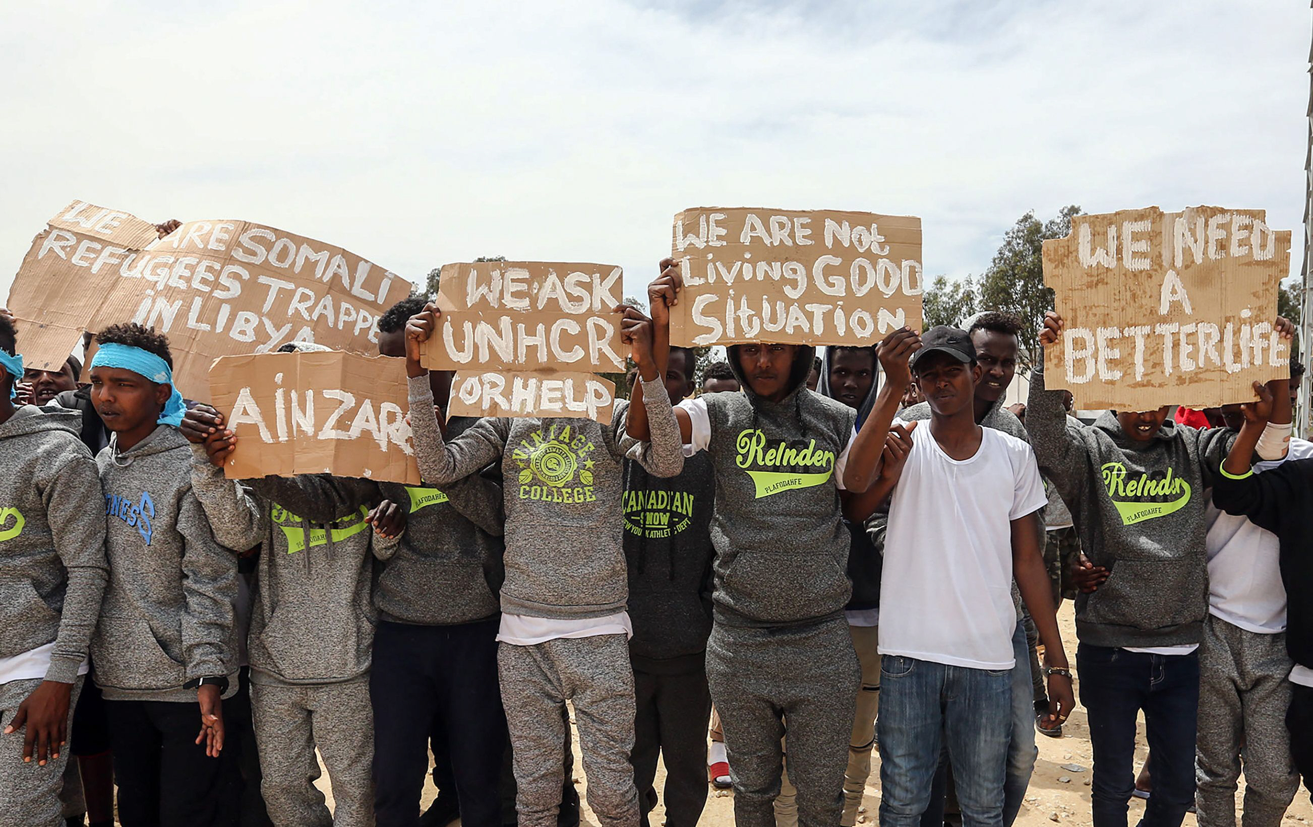 protesters in libya ask for help eight years after kadafi 039 s death