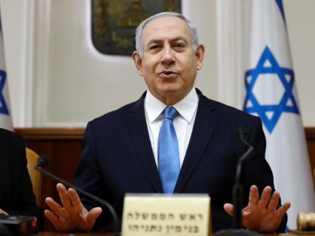 israeli prime minister benjamin netanyahu is facing a tough challenge from a centrist alliance at april 9 elections photo afp