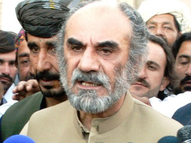 former chief minister of balochistan nawab aslam raisani photo banaras khan express file