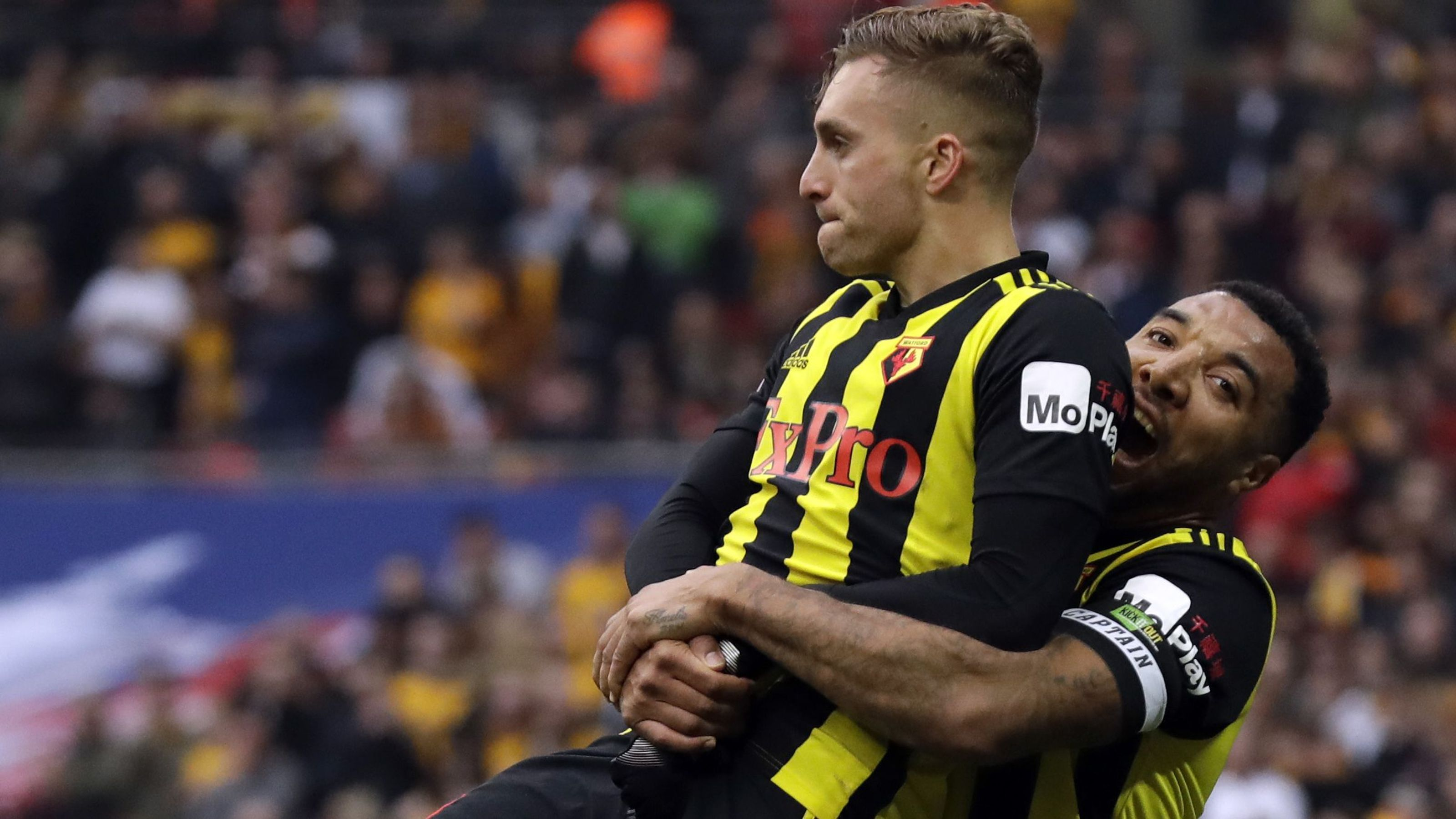 javi gracia 039 s side looked down and out late in normal time before a moment of magic from substitute deulofeu and a last gasp penalty from troy deeney pulled them level photo afp