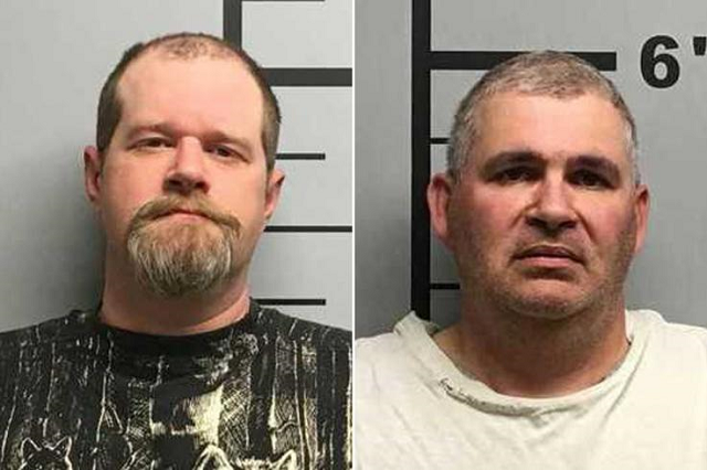 christopher hicks left 36 and charles eugene ferris 50 were detained on monday after the shooting incident photo courtesy newsweek