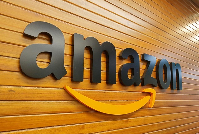 the logo of amazon is pictured inside the company 039 s office in bengaluru india april 20 2018 photo reuters