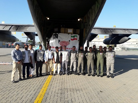pakistan sends consignment of aid to flood hit iran photo express