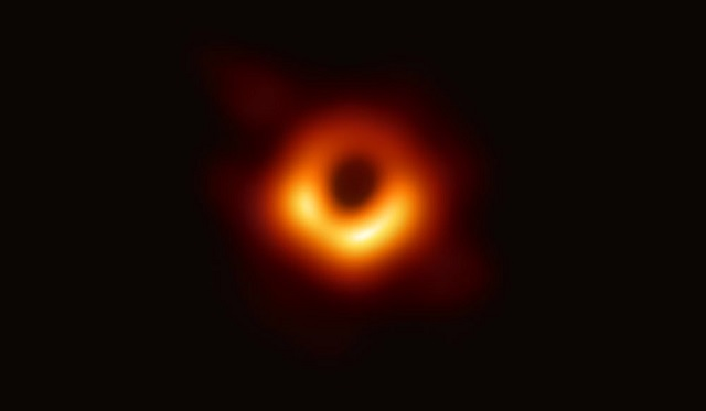 "The first photograph of a black hole and its fiery halo, released Wednesday by Event Horizon Telescope astronomers, is the ""most direct proof of their existence,"" one of the project's lead scientists, PHOTO: NSF"