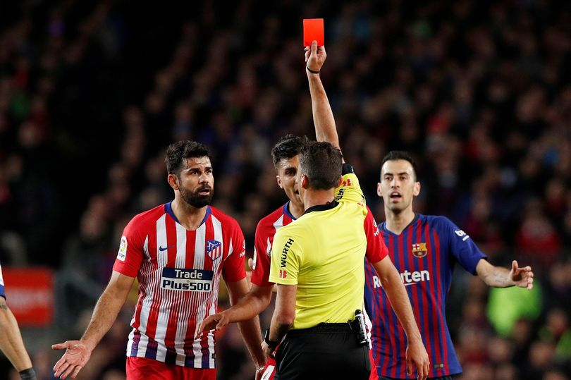 the spanish football federation sat on wednesday to decide on costa 039 s fate and have banned him which will rule him out of the rest of the season photo afp