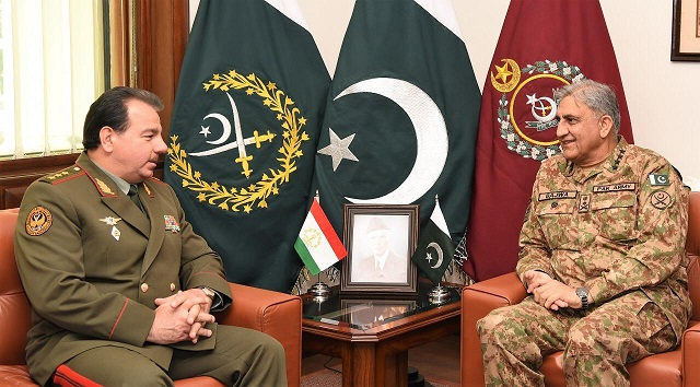 tajik defence minister lauds pakistan army s efforts towards regional stability