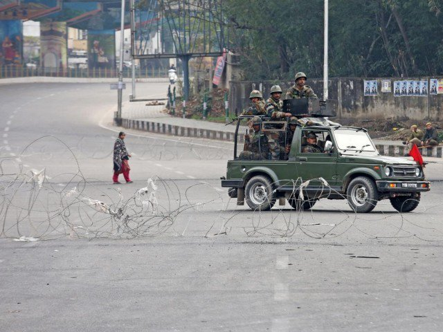 indian soldiers in a vehicle patrol in occupied kashmir photo reuters file
