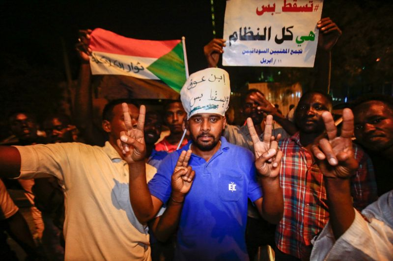 sudan army ousts bashir protestors vow further demos