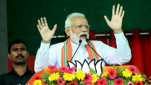 namo tv shows 24 hour programmes on prime minister narendra modi 039 s rallies speeches even rap songs and dance routines devoted to the normally austere leader photo afp