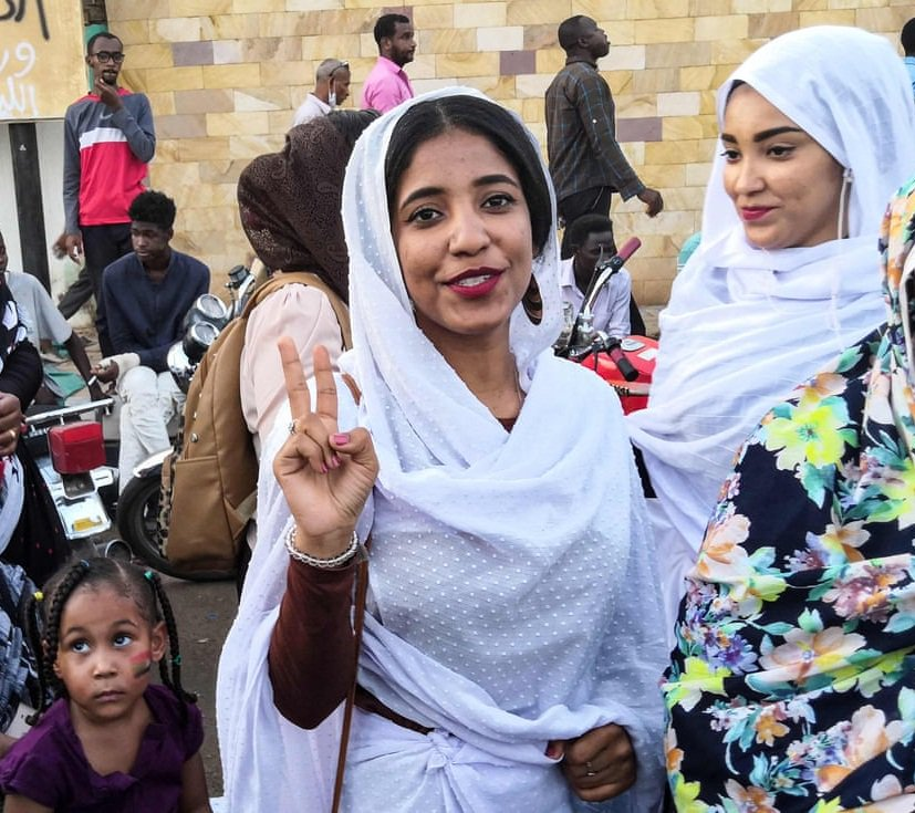 sudanese woman in iconic protest image reports getting death threats