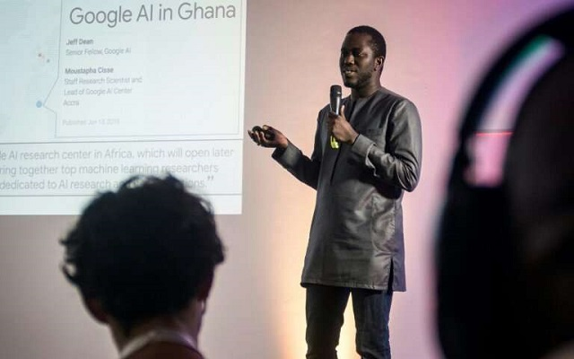 moustapha cisse head of google artificial intelligence ai centre in ghana wants to collaborate with local universities and start ups photo afp