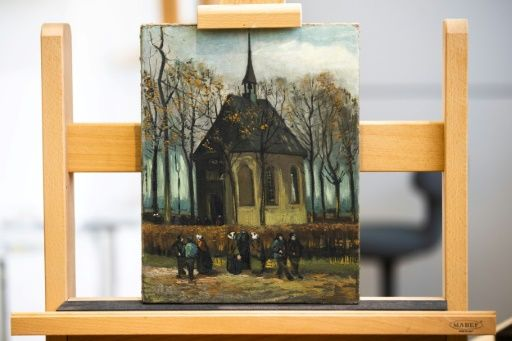 'Congregation Leaving the Reformed Church in Nuenen' (1885), the other Vincent van Gogh painting recovered. PHOTO: AFP
