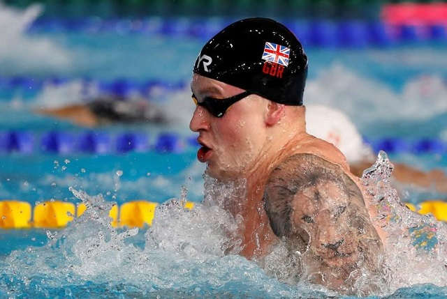 peaty set for worlds with year s fastest 100m breaststroke