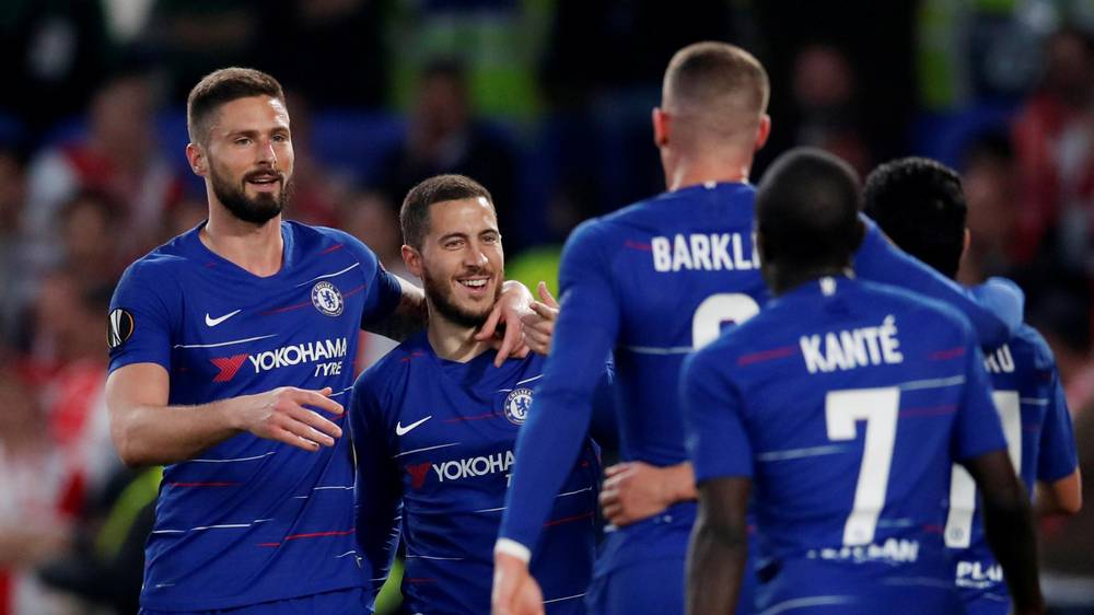 never give up chelsea survive fright night to reach europa league semi finals