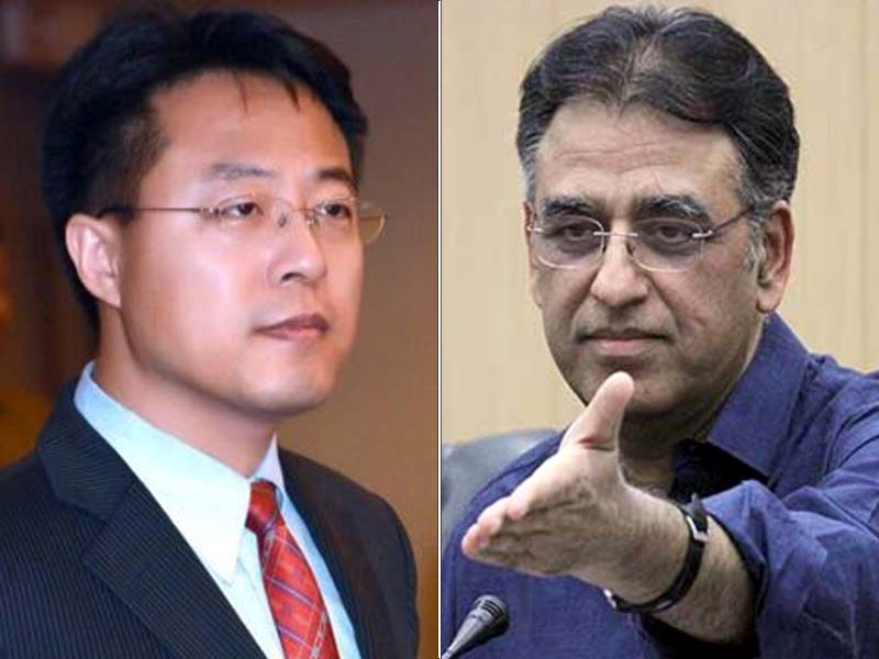 Lijian Zhao shares BBC video clip showing ex-finance minister chastise West for criticising Pak-China ties. FILE PHOTOS
